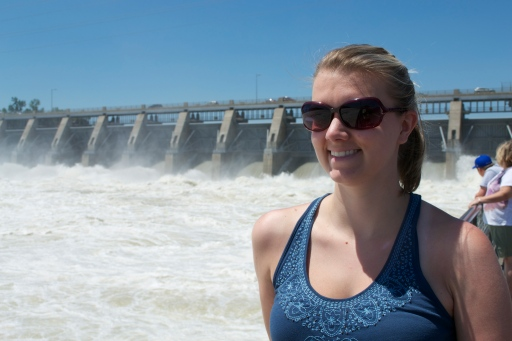 Me at the dam in Yankton, SD