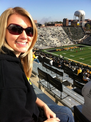 At an Iowa Hawkeye game