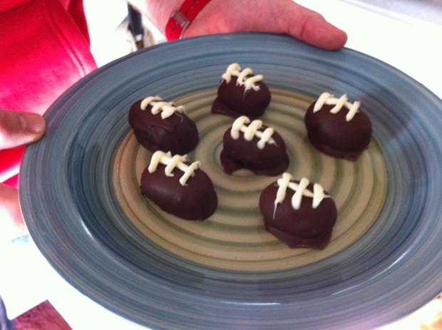 Truffles on a plate