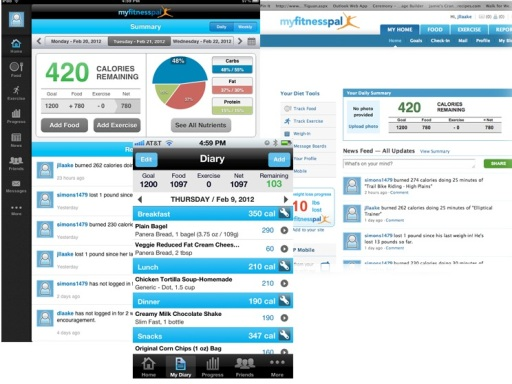 My fitness pal screen shots