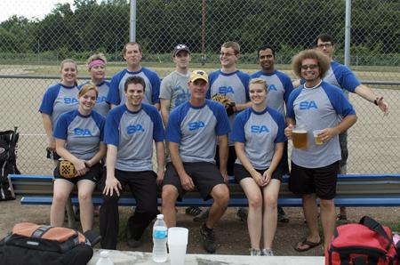 SA softball team photo
