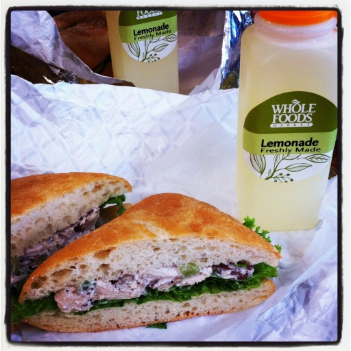 Whole Foods Sonoma Chicken Salad on Ciabatta bread