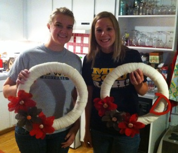 Gabby and I with our wreaths