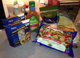 Ingredients for Italian Chicken Wraps