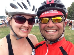 Chris & I after RAGBRAI