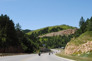 Road from Sturgis to Hill City, SD
