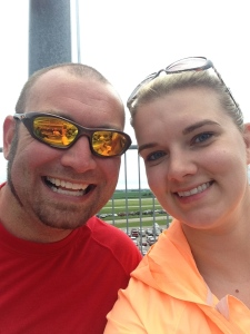 Chris & I at the Indy Car race