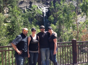 The four of us at Bridal Veil Falls