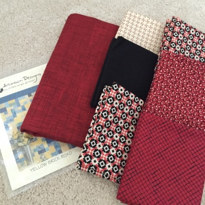 fat quarters and quilt pattern